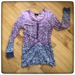 Athleta Ombre Purple to Pink Waffle shirt (Tall)